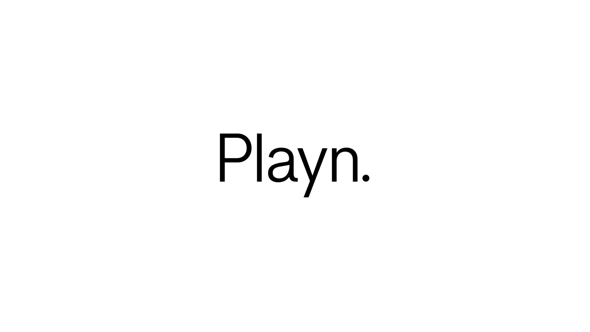 black and white Playn. logo