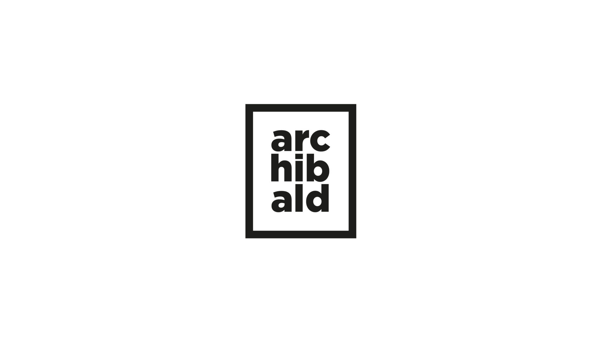 black and white Archibald logo