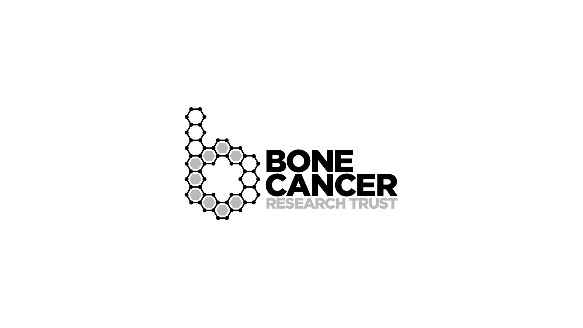 black and white Bone Cancer Research Trust logo