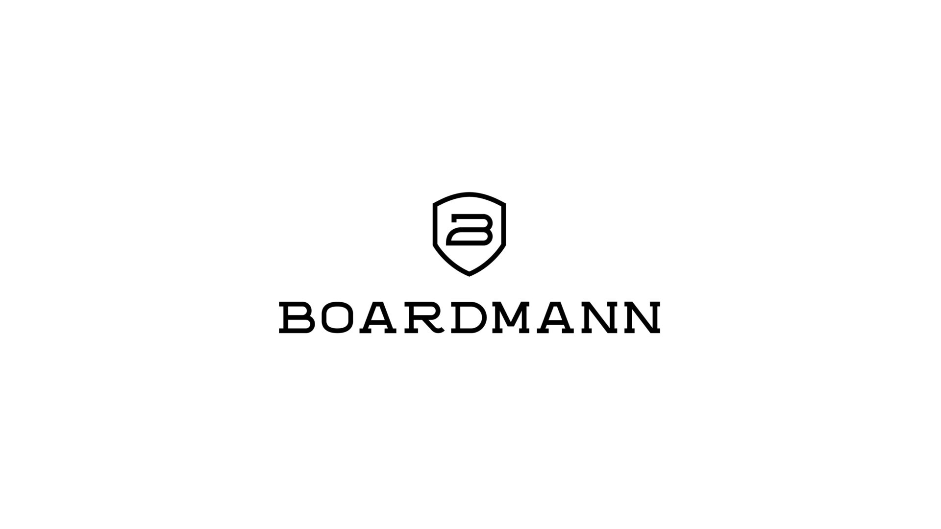 black and white Boardmann logo