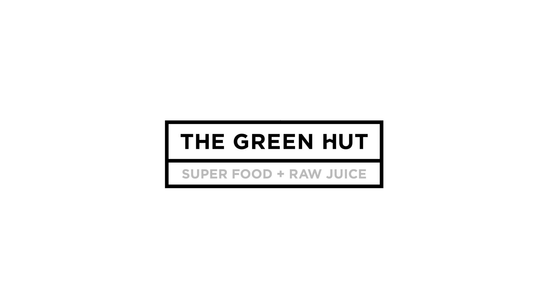 black and white The Green Hut logo