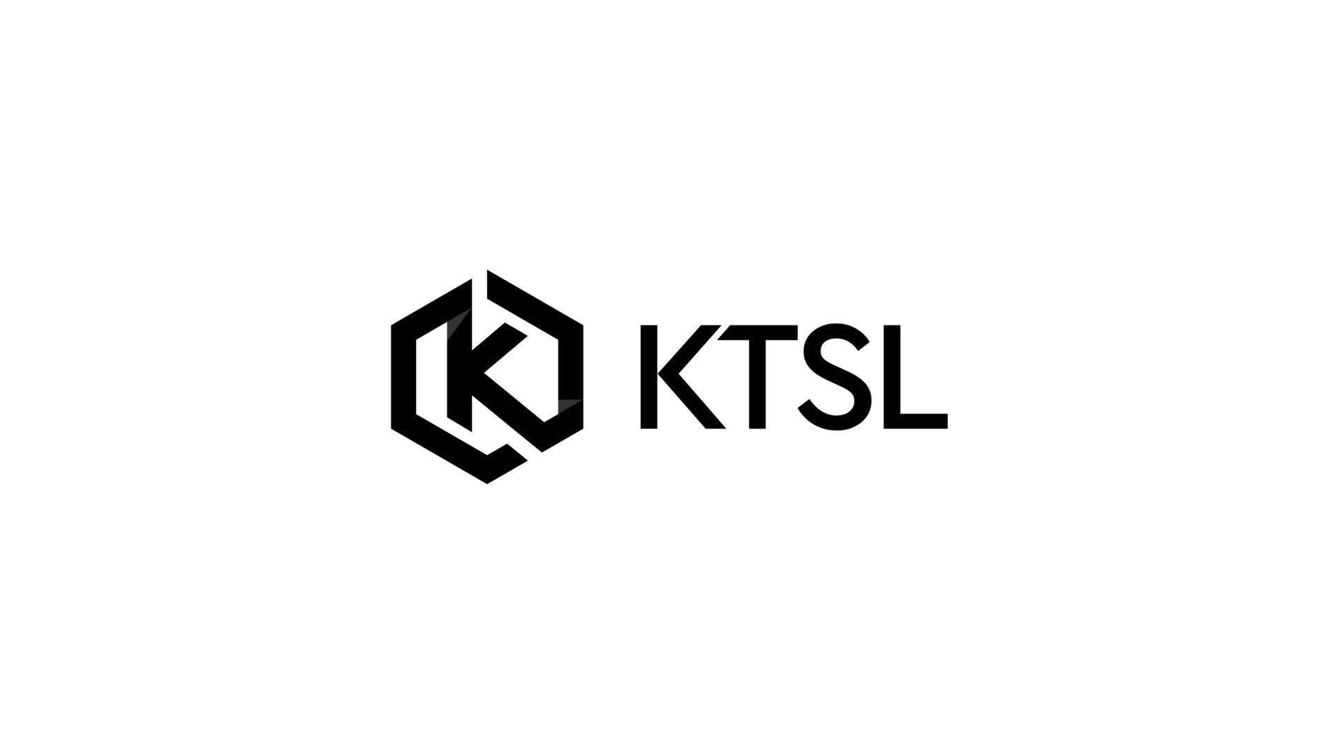 black and white KTSL logo