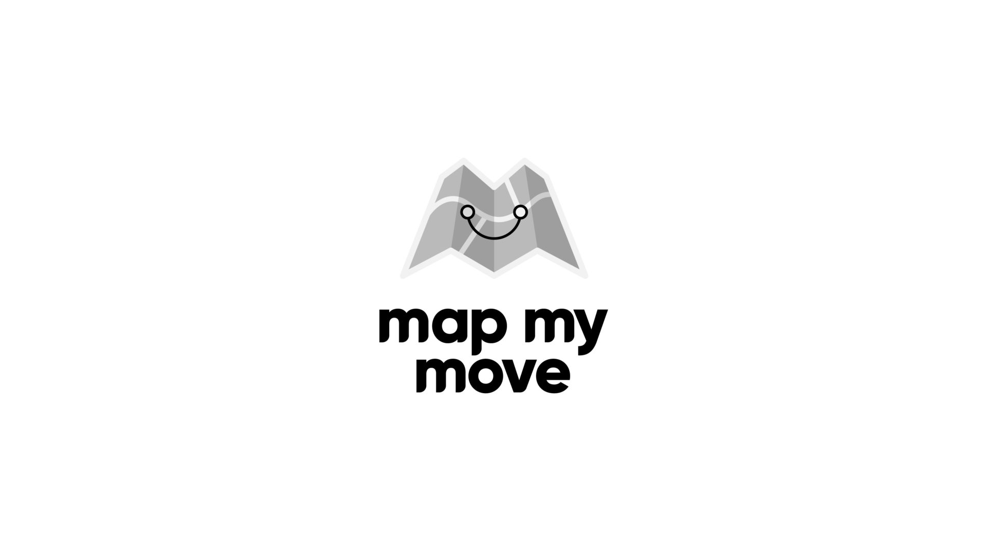black and white Map My Move logo