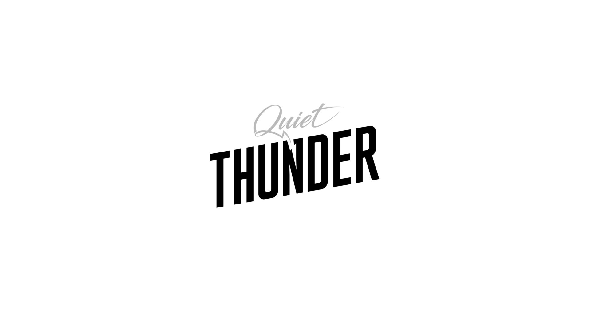 black and white Quiet Thunder logo