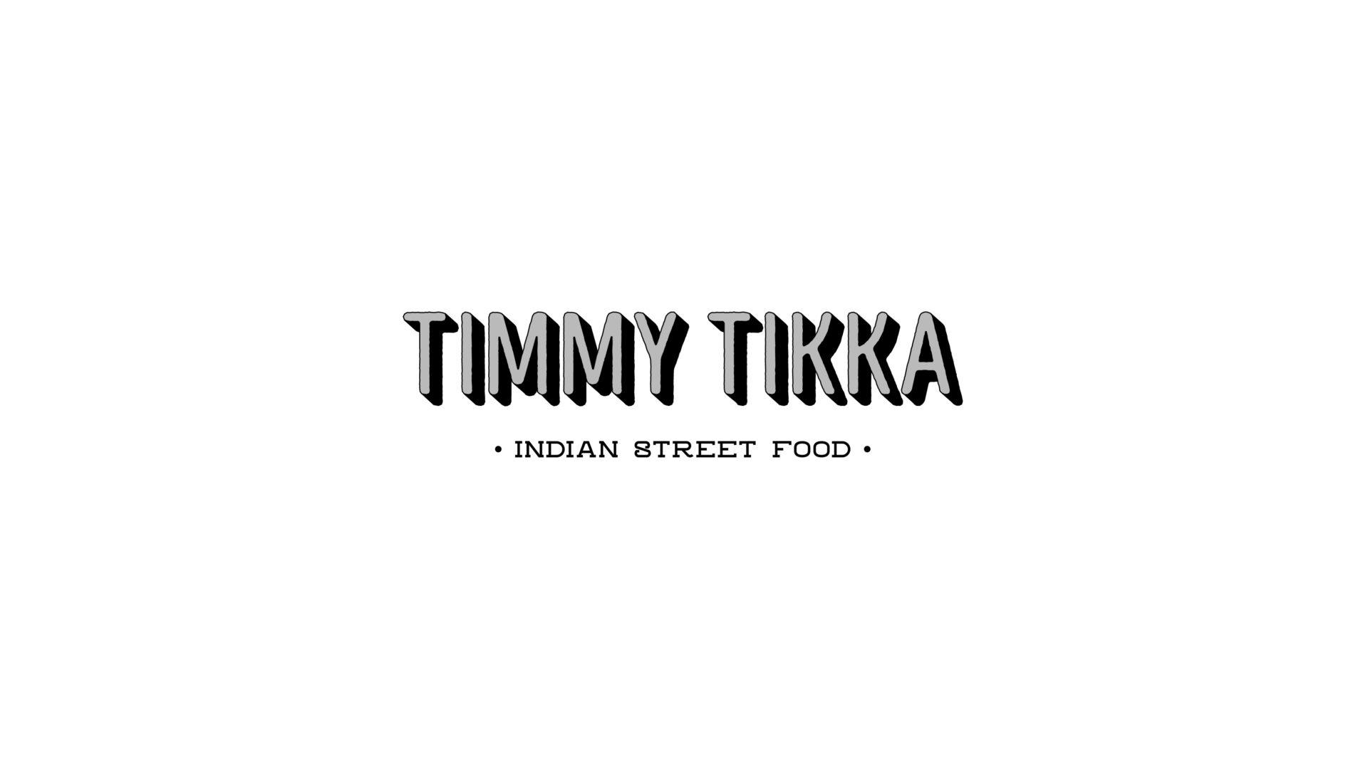 black and white Timmy Tikka logo